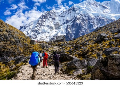 Approaching Salkantay Mountain