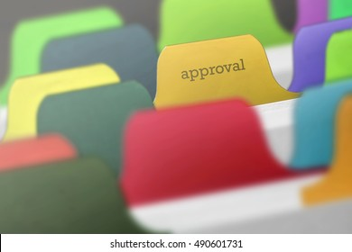 Approval word on index paper