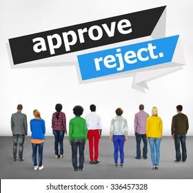 Approve Reject Canceled Decision Selection Concept