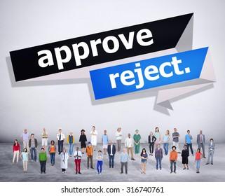 Approve Reject Decision Selection Concept