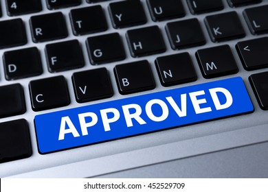 APPROVED  (Accepted Application Form ) a message on keyboard