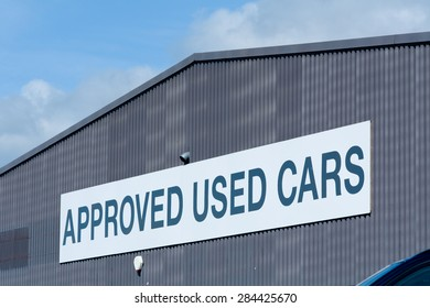Approved Used Cars sign