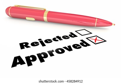 Approved Vs Rejected Checklist Box Mark Pen 3d Illustration