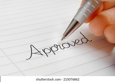 Approved word handwriting