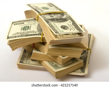 approximately eighty thousand American dollars spread on the stacks and strapped clerical gum