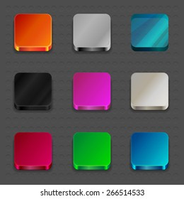 Apps Icons Set  Illustration