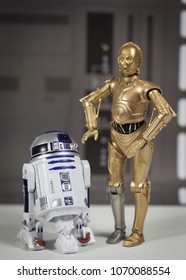 APR 15 2018:  Recreation of a scene from Star Wars - R2D2 and C3P0 droids using Hasbro Black Series 6 inch action figures