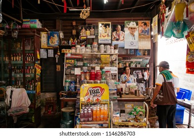 APR 20, 2013 Bangkok, Thailand - Old local retail grocery shop in Bangkok with a lot of products to sell.