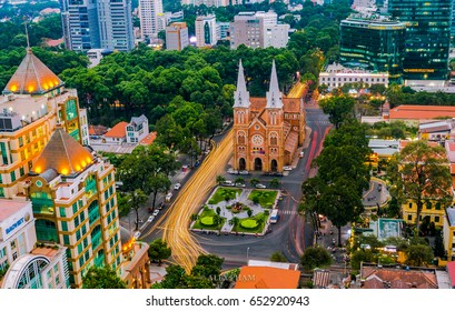 APR, 2017 : Notre Dame Cathedral, Nha Tho Duc Ba, build in 1883 in Hochiminh city, Vietnam.
