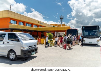 Apr 23,2018 Bohol island, Philippines : Tourists check-in at the ferry terminal