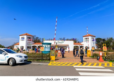 Apr 8, 2017 Entrance of Ecoland Theme Park in Jeju island, South Korea