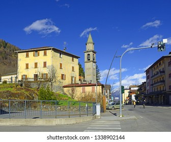 APRICA, ITALY - APRIL 1: The main street in Aprica on April 1, 2015. Aprica is one of the most famous ski resorts in Lombardy and in the whole northern Italy