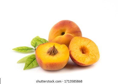 Apricot or Armenian plum ,ripe fruits on a white background.