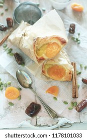 apricot bread on table
