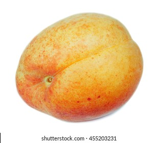 Apricot isolated on white with clipping path
