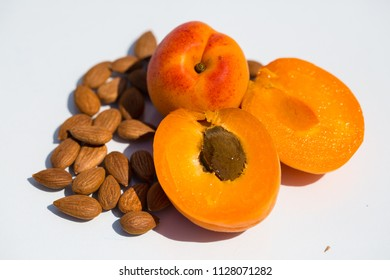 Apricot kernels together with fresh apricot