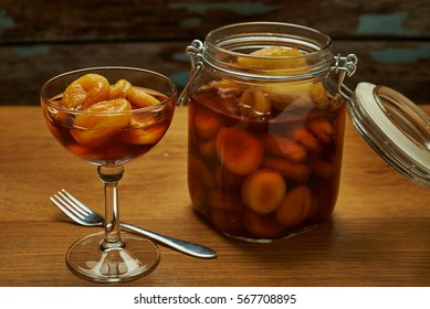 apricot on brandy according to old Dutch recipe.