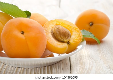 Apricot on the table