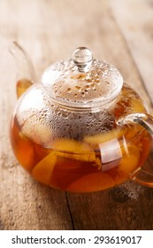 Apricot and peach tea
