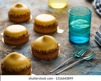 Apricot Tartlets, Homemade Gourmet Dessert.