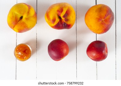 apricot in wood table