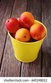 Apricots in bucket