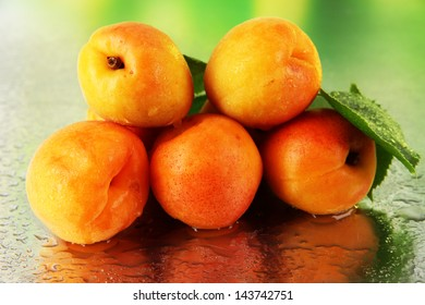 Apricots on nature background