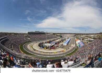 April 02, 2017 - Martinsville, Virginia, USA: The Monster Energy NASCAR Cup Series teams take to the track to practice for the STP 500 at Martinsville Speedway in Martinsville, Virginia.