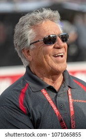 April 06, 2018 - Avondale, Arizona, USA: Race car legend, Mario Andretti, watches qualifying for the Desert Diamond West Valley Casino Phoenix Grand Prix at ISM Raceway in Avondale, Arizona.