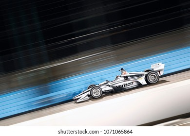 April 06, 2018 - Avondale, Arizona, USA: Josef Newgarden (1) takes to the track to practice for the Desert Diamond West Valley Casino Phoenix Grand Prix at ISM Raceway in Avondale, Arizona.