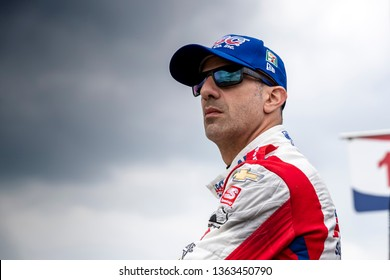 April 06, 2019 - Birmingham, Alabama, USA: TONY KANAAN (14) of Brazil prepares to qualify for the Honda Indy Grand Prix of Alabama at Barber Motorsports Park in Birmingham, Alabama.