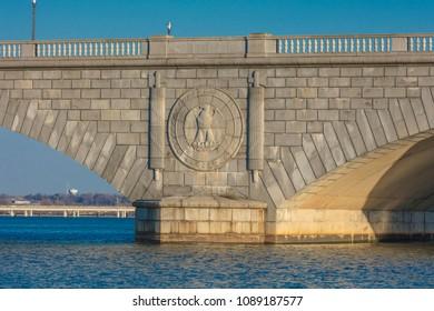 APRIL 10, 2018 - WASHINGTON D.C. - Memorial Bridge Washington D.C. and Potomac River