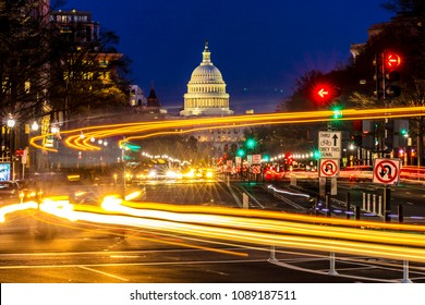 APRIL 11, 2018 WASHINGTON D.C. - Pennsylvania Ave to US Capitol with
