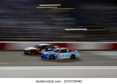 April 13, 2019 - Richmond, Virginia, USA: Darrell Wallace, Jr (43)  battles for position for the Toyota Owners 400 at Richmond Raceway in Richmond, Virginia.