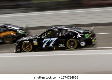 April 13, 2019 - Richmond, Virginia, USA: Garrett Smithley (77)  battles for position for the Toyota Owners 400 at Richmond Raceway in Richmond, Virginia.