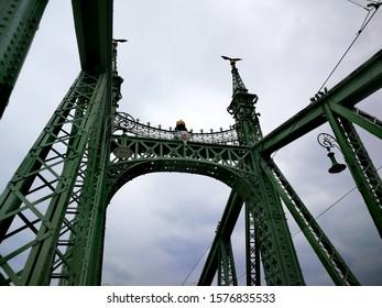 April 13th, 2019 -Budapest, Hungary -One of Budapest's most beautiful cantilever bridges - Liberty Bridge