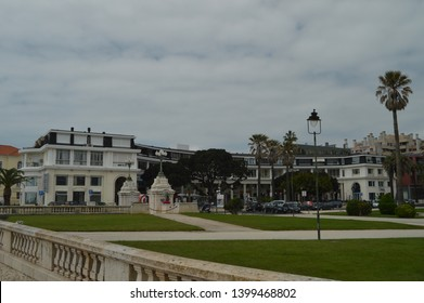 April 15, 2014. Estoril, Cascais, Sintra, Lisbon, Portugal. Picturesque And Luxurious Buildings In The Closeness Of The Grand Casino In Estoril. Travel, Nature, Landscape.