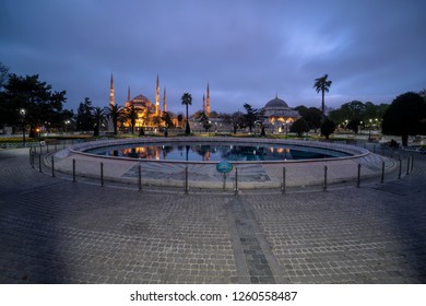 April 15, 2018 istanbul Turkey -  Sultanahmet Square and Sultanahmet Mosque