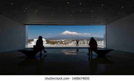 April 15, 2019 - Yamanashi, Japan: Observation Deck of Mt. Fuji World Heritage Centre, Shizuoka, Japan