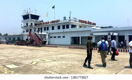 April 16, 2019 Cox's Bazar - Bangaldesh / Cox's Bazar Airport - Building is Small and Old