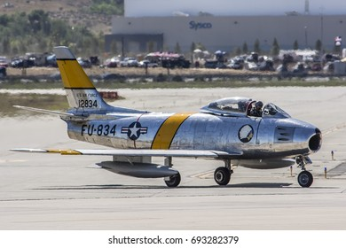 April 17, 2016. March Field AirFest, California, USA. North American F-86 Sabre