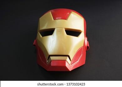April 17, 2019 / Saudi Arabia: A Hasbro Mask of Iron Man made of shiny plastic that resembles metallic