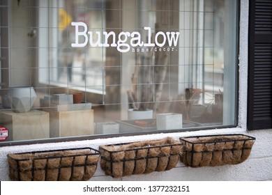 April 17 2019 Windsor Ontario Canada Trendy Maiden Lane Storefront Bungalow
