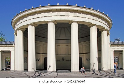 April 18, 2019 - Aachen, Germany: Elisenbrunnen is classical building in german city Aachen