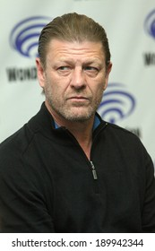 """APRIL 19-ANAHEIM, CA: Sean Bean attnds a press conference at the 2014 Annual Wondercon press room for """"Legends"""" on April 19, 2014 in Anaheim, CA."""