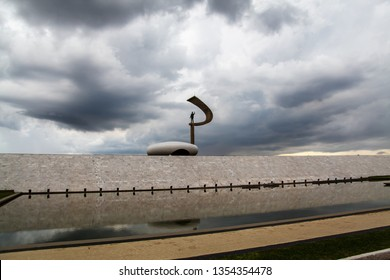 Brasília, April 2, 2019: JK Memorial, a Brazilian museum dedicated to former President J. Kubitschek, intends to perpetuate the life story of JK. Designed by Oscar Niemeyer.