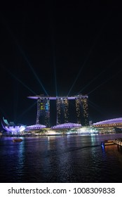 April 20, 2016 - Singapore - Marina Bay Sands is an integrated resort fronting Marina Bay in Singapore. At its opening in 2010, it was billed as the world's most expensive standalone casino property.