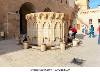 April 20, 2018. Mardin, Turkey : Mardin is an old city. Historical stone buildings, the city's minarets Mardin's best tourist attractions.. (Minaret of Ulucami (Great Mosque)