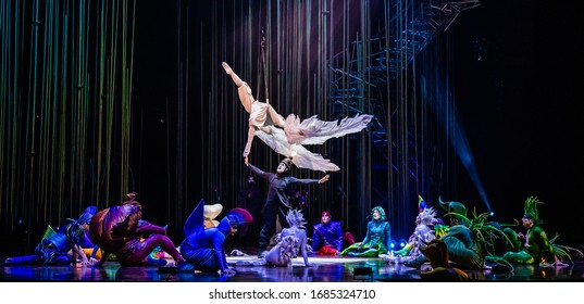 April 20 - 2020. Ziggo Dome Amsterdam, The Netherlands. Performance of Cirque du Soleil Varekai