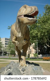 Tyrannus saurus rex images stock photos vectors shutterstock april 2007 frankfurt a real size model of a tyrannus saurus rex dinosaur in thecheapjerseys Image collections